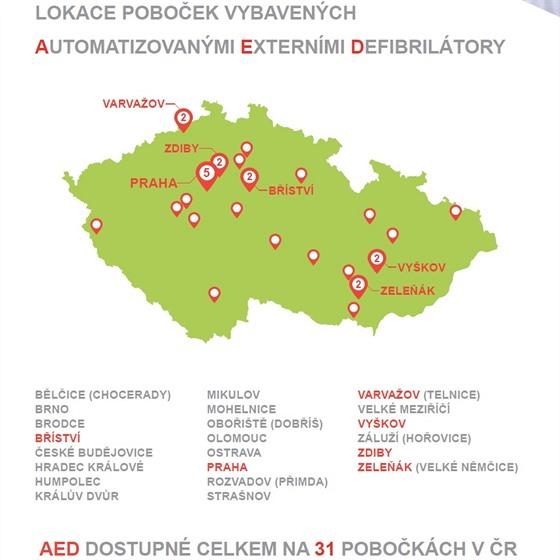 Kde všude budou k dispozici defibrilátory - infografika
