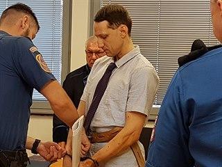 Obžalovaný Martin Chlouba před ústeckým krajským soudem (18. června 2018)