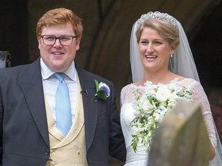 Neteř princezny Diany Celia McCorquodaleová a George Woodhouse se vzali 16....