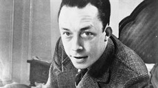 Albert Camus na snímku United Press International z 1. ledna 1957