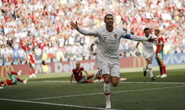 836805fad MS 2018 - Fotbal   Portugalsko - Maroko 1:0, výhru vystřelil Ronaldo ...