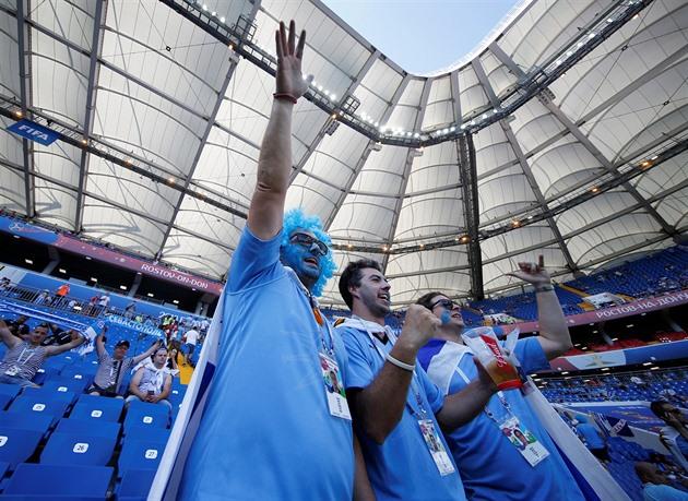 Uruguayci vyhráli úvodní duel s Egyptem 1:0 díky Gimenézově trefě