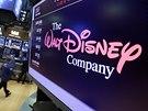 Logo Walt Disney Company na newyorské burze