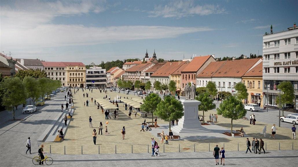 Takto by podle vizualizací mohlo po úpravě vypadat třebíčské Karlovo náměstí.