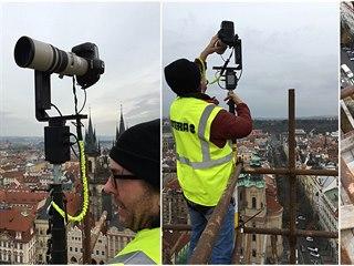 Záběry ze vzniku 500gigapixelové fotografie Prahy