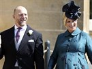 Mike Tindall a Zara Phillipsová (Windsor, 19. května 2018)