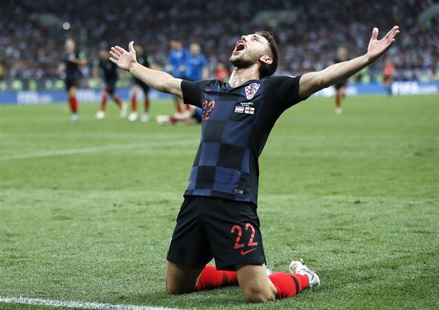 Jsme Ve Finale Chorvatsky Fotbalista Josip Pivaric Slavi Na Mistrovstvi