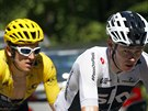 Chris Froome (vpředu) a Geraint Thomas na Tour de France.