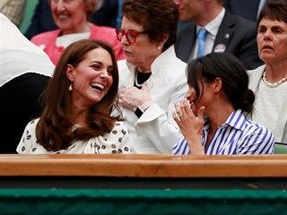 Vévodkyně z Cambridge Kate (36) a vévodkyně ze Sussexu Meghan (36) spolu v...