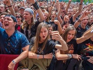 Fanoušci na metalovém festivalu Masters of Rock 2018 ve Vizovicích.