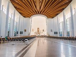 Další poutní místo. Centrum papeže Jana Pavla II. vkrakovských Lagiewnikách...