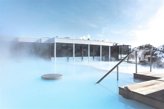 Luxusní hotel The Retreat v Blue Lagoon nedaleko islandského Reykjavíku.