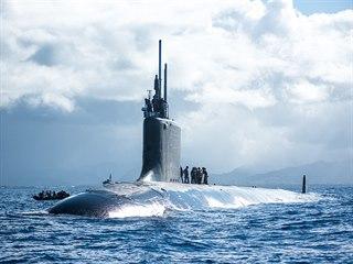 Americká ponorka USS Hawaii na manévrech RIMPAC 2018 u Havajských ostrovů