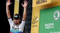 Peter Sagan se raduje z triumfu ve 13. etapě Tour de France.