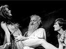 Taťjana Medvecká, Josef Somr a Ivan Luťanský ve hře Adam a Eva (Národní divadlo...