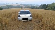 7f6607689c8 Ujíždějící auto havarovalo za obcí ...