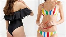 cb138e849 Trendy plavky mají geometrické detaily, volánky i retro barvy.
