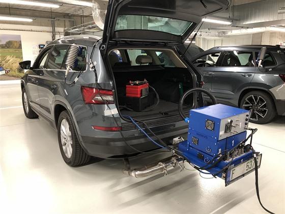 Mobilní zařízení na měření emisí pro test RDE