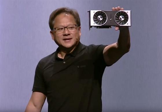 7f852513e Šéf společnosti Nvidia Jensen Huang ukazuje novou generaci grafických ...