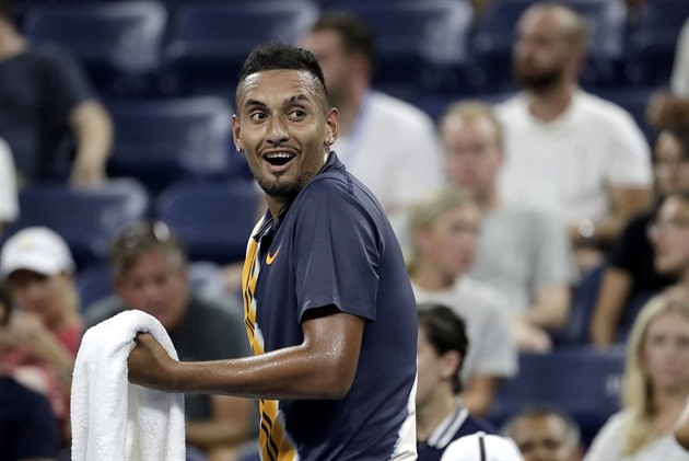 Nick Kyrgios v 1. kole US Open.