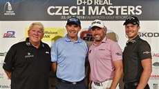 Zleva John Daly, Pádraig Harrington, Lee Westwood a Danny Willett na tiskové...
