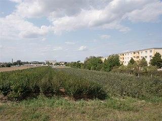 Plocha mezi sídlištěm ve zlínské části Malenovice a obchodním centrem, kde kraj...
