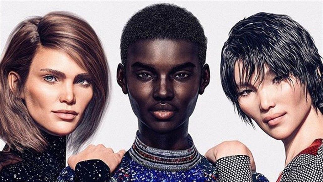 59fd13261 Virtuální modelky budoucnosti Margo, Zhi a Shudu v kampani pro značku ...