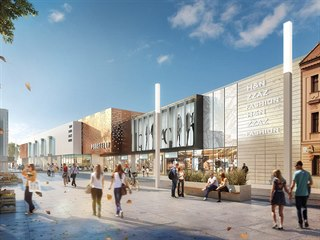 Vizualizace plánované podoby obchodní Galerie Prostějov, kterou chce v centru...