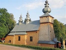 Dřevěný kostel sv. Dmitrije v obci Binczarowa