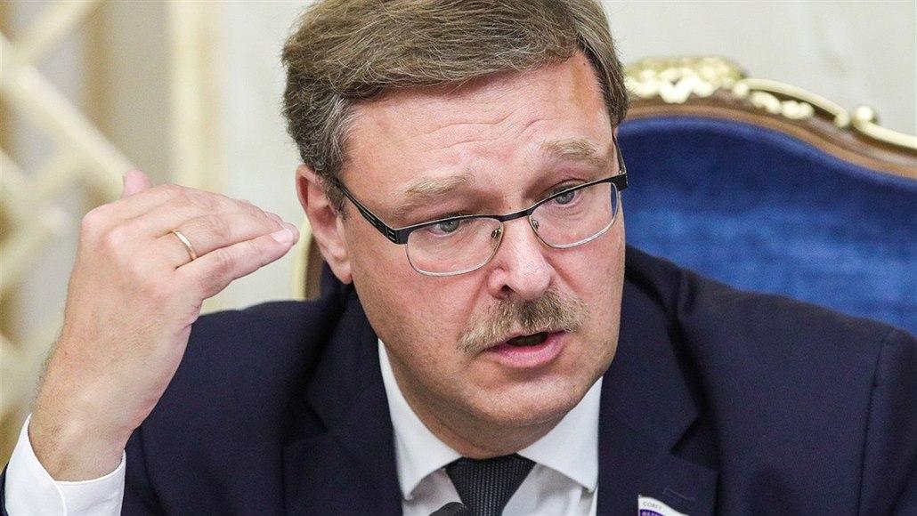 Šéf zahraničního výboru Rady federace Konstantin Kosačov nedostal vízum do USA