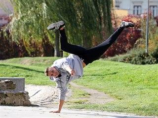 Jihlavský park Gustava Mahlera je jedním z míst, které mají parkouristé rádi....