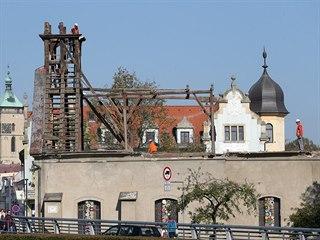 Po snesení střechy kostela svaté Kateřiny se lidem v Havlíčkově Brodě otevřel...