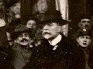 Příjezd Tomáše Garrigua Masaryka na Wilsonovo nádraží v Praze. (21. prosince...