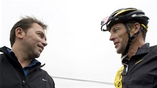 Manažer Johan Bruyneel a Lance Armstrong