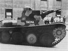 Lehký tank Praga LTP určený pro export do Peru (viz P v typovém označení). V...