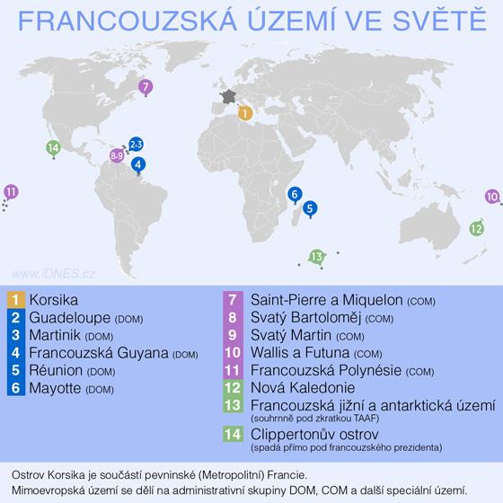 Francouzská území ve světě