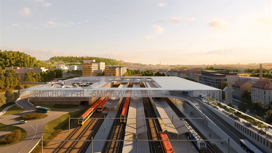 Smíchovský terminál bude odvážný, autobusy mají stát nad vlakovým nádražím