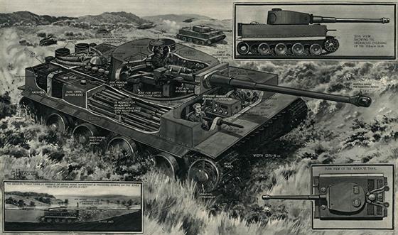 """Spojenci tank Tiger nakonec prozkoumali. """"Tygří tesáky odhaleny: další německá..."""