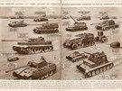 Tiger (s číslem 107) vévodí i tomuto souboru německých obrněných vozidel.
