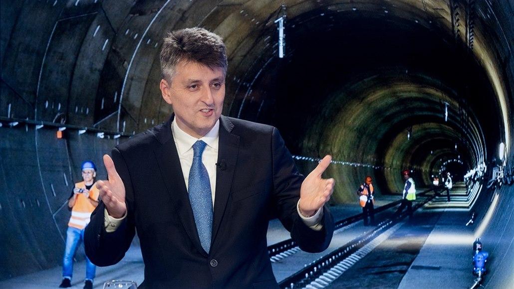Ejpovický tunel zkrátí cestu z Plzně do Prahy o 11 minut, řekl šéf SŽDC