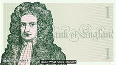 Isaac Newton ve videu Bank of England