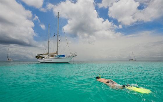 Skvělé koupání, potápění nebo šnorchlování - to je Karibik!