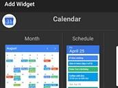 Widget Drawer přináší zajímavý způsob práce s widgety.