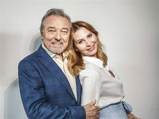 Karel Gott a jeho manželka Ivana Gottová (2018)