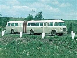 Prototyp kloubového autobusu Škoda 706 RTO-K, vůz byl vyroben pouze v tomto...