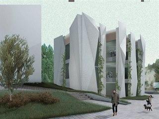 Návrh návštěvnického centra u vstupu do Teplických skal