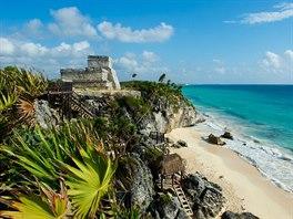 Pláž Tulum beach, Quintana Roo, Mexiko