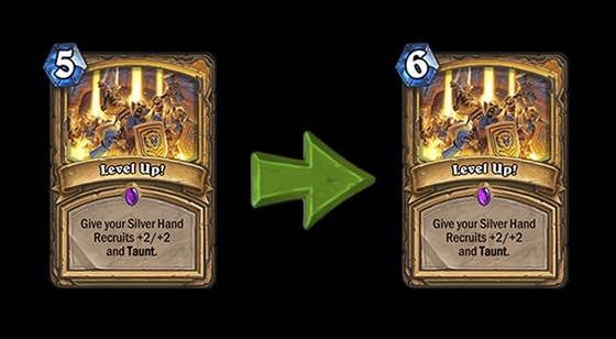 Hearthstone - karta Level Up!