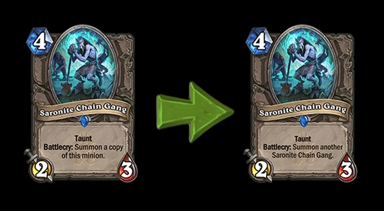Hearthstone - karta Saronite Chain Gang