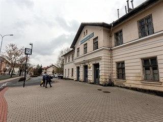 Budova prostějovského místního nádraží postavená v roce 1889 je dominantou...